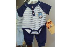 Tulec Trend set body and pants navy, 0-6m