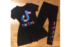 Tik Tok set dress + leggings, 11/12y