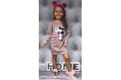 Dress with cat pink, 12-14y