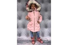 Winter pink D coat, 134/140