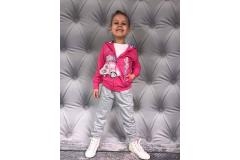 Jogging set Sweet in dark pink, 4-12y