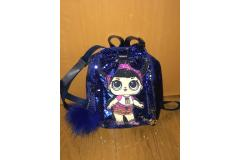 LOL bag with bow blue