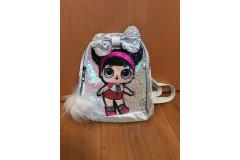 LOL bag with bow white