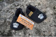 Softshell boots black Crown, 12cm