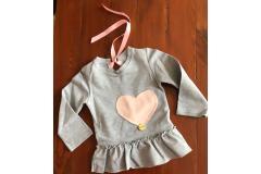 Dream Dress Grey Shirt Heart, 74-140