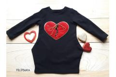 Dress Heart black, 92-128