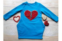 Dress Heart blue, 92-128