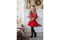 All For Kids Red Dress with tulle, 92/98