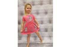 LOL dress dark pink, 116-134