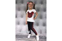 Minnie shirt and leggings, 4-14y