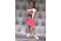 Minnie shirt and skirt, 4-14y
