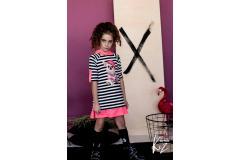 Dress Pinky with hoody, 128-158