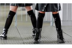 Knee socks black