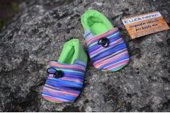 Softshell boots rainbow green, 12cm