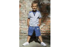 Soho blue set shorts+shirt, 98-140