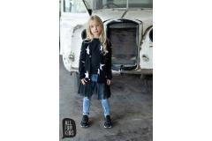 AFK Black Star Cardigan with tulle