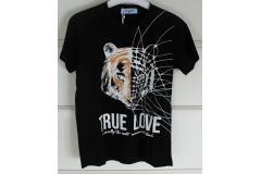 Black Tshirt True Love, 4-14y
