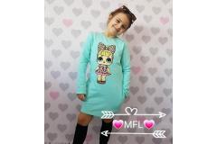 LOL dress mint, 122-140