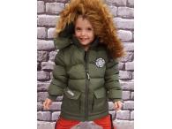 Zimní bunda pro kluky khaki, 98-152