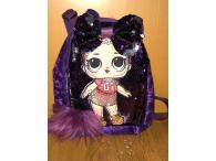 LOL batůžek flitrový s mašlí violet II