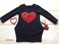 Šaty Srdce černé, 92-128