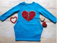 Šaty Srdce modré, 92-128