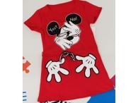 Šaty Mickey červené