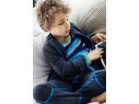 JOHA chlapecká mikina na zip, vlněný fleece, 100, 120