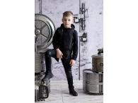 AFK Kalhoty černé leather, 92-146