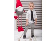 Košile bílá s kravatou, 80-146