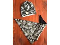 Set čepice+šátek army