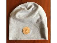 Čepice bavlněná šedá