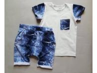 Souprava kraťasy+triko Jeans
