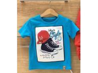 Triko Skate Style modré, 86-140