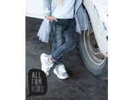 AFK Dívčí džíny baggy černé, 104-158