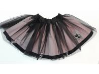 Sukně černá s tylem a lampasem, 86-128
