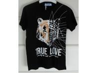 Triko True Love černé, 4-14 let