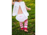 RuffleButts Summer Bloomers - White, 2 roky